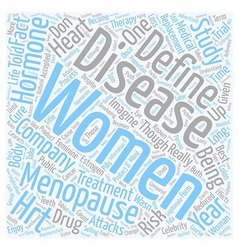 The Change When Menopause Became A Disease text vector image