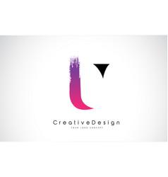U letter logo design with creative pink purple vector