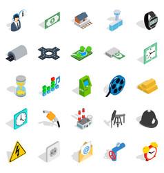Urban communication icons set isometric style vector