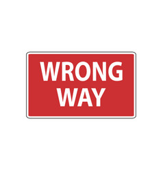 Usa traffic road signs do not drive past vector