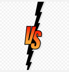 Versus logo vs letters for sports and fight vector