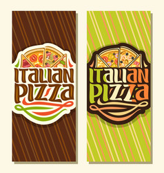 vertical banners for italian pizza vector image