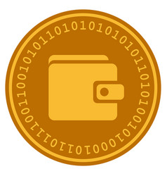 wallet digital coin vector image