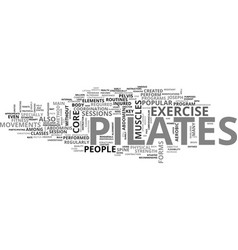 What pilates is text word cloud concept vector