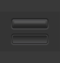 White web interface buttons rectangle 3d icons vector