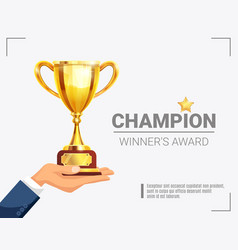 Winner award champion trophy poster vector