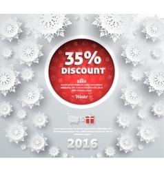 Winter Discount Best Choice Design Flat vector