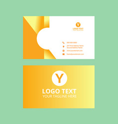 Yellow awosome business card vector