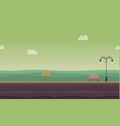 background game of garden landscape style vector image