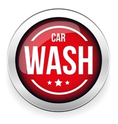Car wash button icon vector