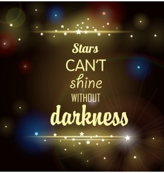 Dark background with shining stars and inscription vector