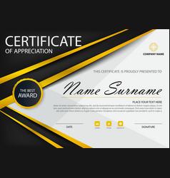 gold black elegance certificate template set vector image vector image