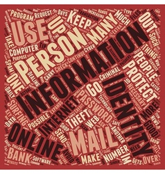 How To Protect Your Identity Online text vector image
