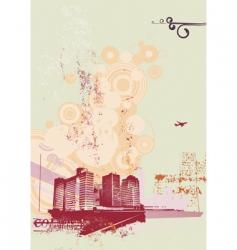 urban retro background vector image vector image