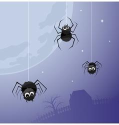 creepy spiders background vector image