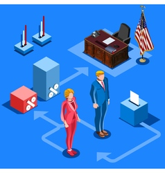 Election Infographic Us Presidential Isometric vector image vector image