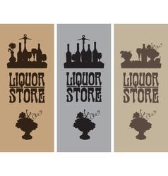 liquor store vector image