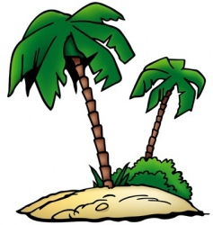 palms beach vector image vector image