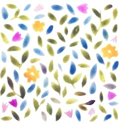 Abstract watercolor flower pattern Modern pattern vector image vector image