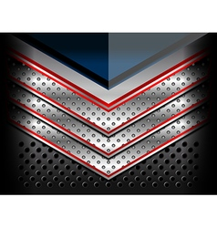 Blue red metallic background vector