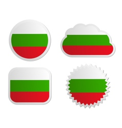 Bulgaria flag labels vector image