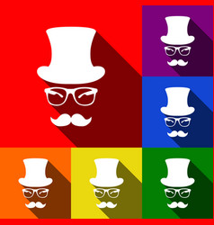 hipster accessories design set of icons vector image