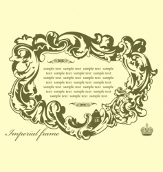 imperial frame pistachio vector image vector image