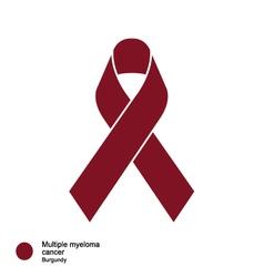 multiple myeloma ribbon vector image vector image
