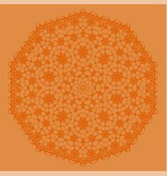 Orange oriental geometric ornament vector