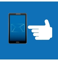 smartphone concept email message chat icon vector image