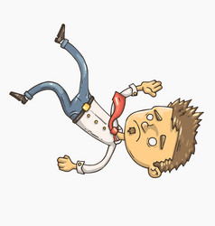 falling office man vector image