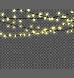 glowing christmas lights vector image vector image