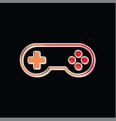 joystick game brand company template logo vector image