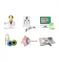 optometry icons vector image vector image