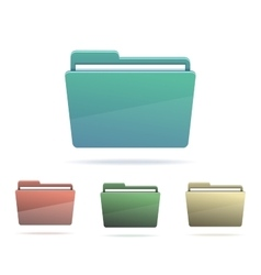 Set of Folders with papers vector image vector image