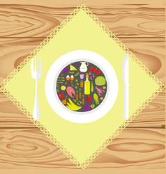 set of healthy food vector image vector image