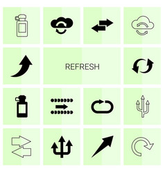 14 refresh icons vector image