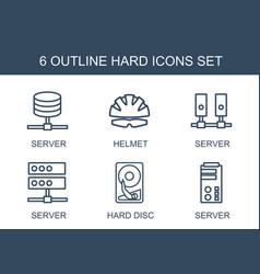 6 hard icons vector