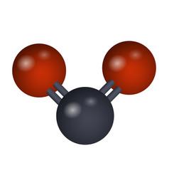 a molecule of carbon dioxide vector image
