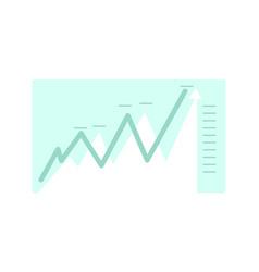 abstract chart financial graph analytics cartoon vector image