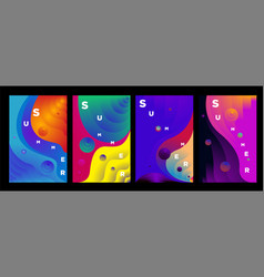 Abstract colorful gradient fluid and wave vector