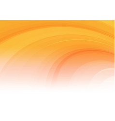 abstract curved orange background vector image