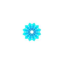 abstract flower logo designs inspiration isolated vector image