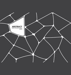 abstract gray and white geometric voronoi vector image