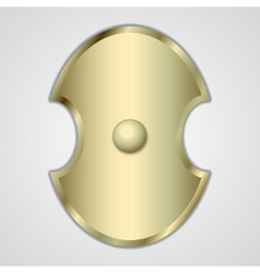 abstract of gold Greek shield vector image