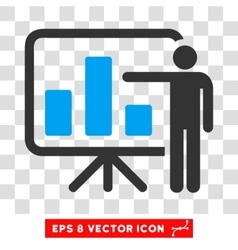 Bar Chart Presentation Eps Icon vector image