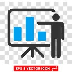 Bar Chart Presentation Eps Icon vector image vector image