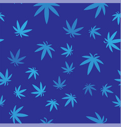 Blue medical marijuana or cannabis leaf icon vector