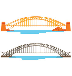 bridge across the river vector image