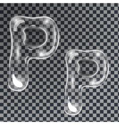 Bubbles letters P vector image